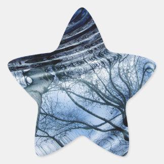 Ripples in Blue Star Sticker
