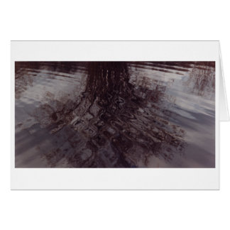 Ripples intersecting in a pond card