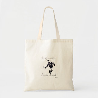 """""""RISE AGAINST ANIMAL CRUELTY"""" CANVAS BAGS"""