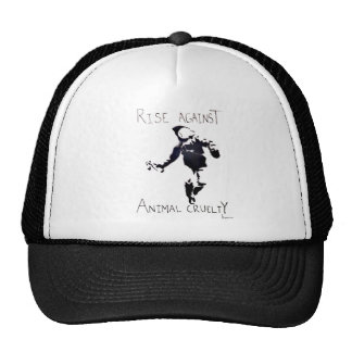 """RISE AGAINST ANIMAL CRUELTY"" TRUCKER HAT"