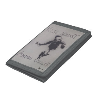 """Rise Against Animal Cruelty"" Tri-fold Wallet"
