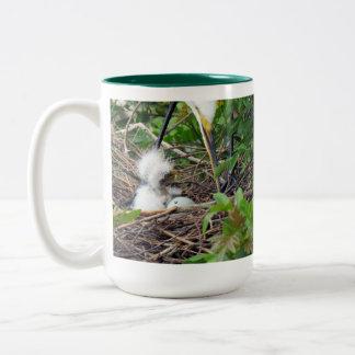 Rise and Shine Great White Egret Hatchings Mug