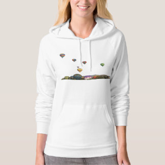Rising Balloons Above Trees & Mountains Hoodie
