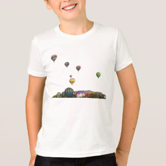 Rising Balloons Above Trees & Mountains T-Shirt