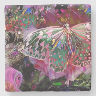 Rising Dawn Butterfly Stone Coaster