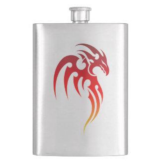 Rising Phoenix Tribal Symbol Hip Flask