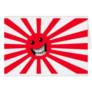 rising sun smiley card