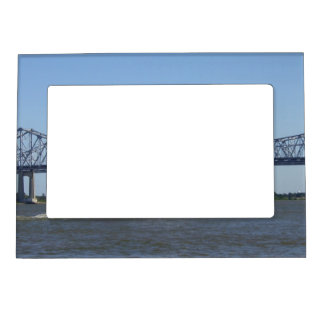 River and Bridge Photo Frame Magnets