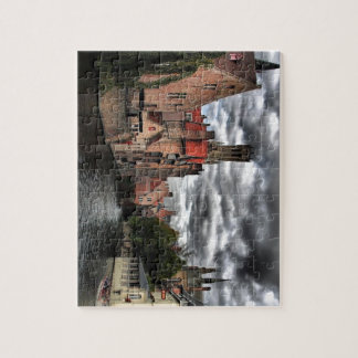 River in Bruges City, Belguim Jigsaw Puzzle