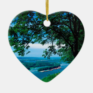 River Mississippi Mcgregor Iowa Christmas Ornament