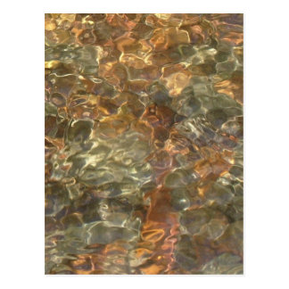 River Pebbles Photo in Golds, Oranges and Browns Postcards