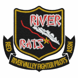 RIVER RAT Embroidered  A-10 Golf Polo (Dark Shirt)