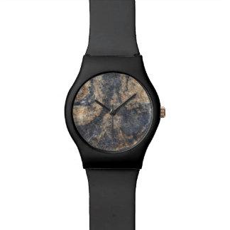 River Rock Black Brown Orange Texture Wrist Watches