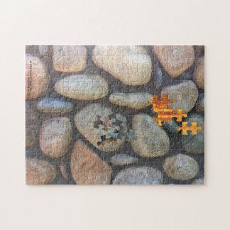 River Rock Wall Close-Up Photograph Jigsaw Puzzle