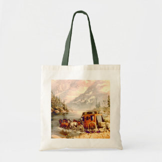 RIVER STAGECOACH CROSSING by SHARON SHARPE Tote Bag
