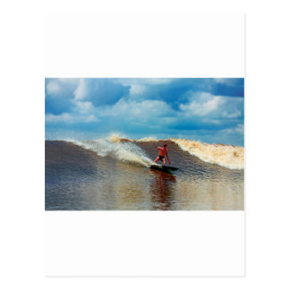 River surfing Seven Ghosts tidal bore Postcard
