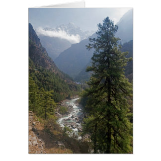River Valley in the Himalayan Mountains, Nepal Greeting Card