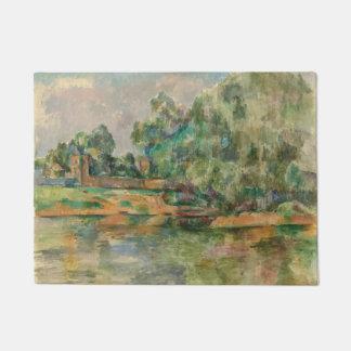 Riverbank by Paul Cezanne Door Mat