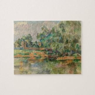 Riverbank by Paul Cezanne Puzzle