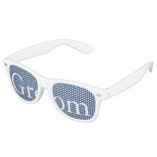 Riverside Blue with White Wedding Detail Retro Sunglasses