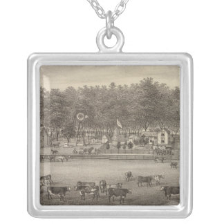 Riverside stock Farm, NE of Concordia, Kansas Silver Plated Necklace