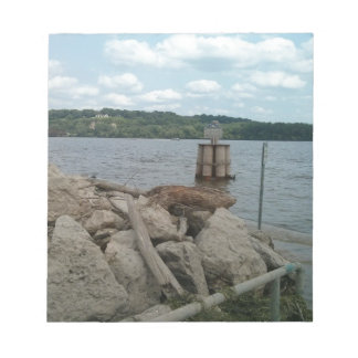 Riverwalk Dubuque Iowa Mississippi River Notepad