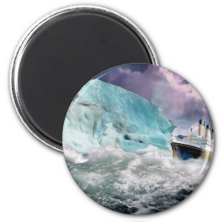 RMS Titanic and Iceberg Painting Magnet