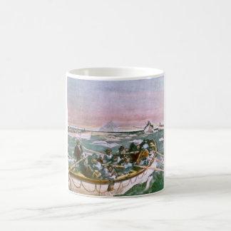 RMS Titanic Survivors in Lifeboats Next Morning Coffee Mug