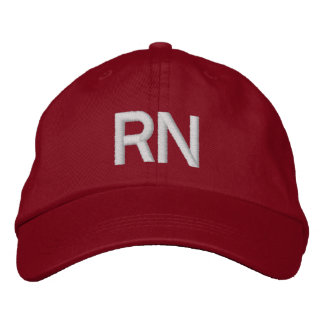 RN hat - red Embroidered Baseball Cap