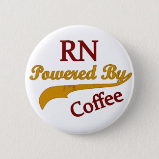 RN Powered By Coffee 6 Cm Round Badge