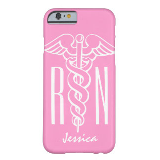 RN Registered Nurse iPhone 6 case | Pink caduceus Barely There iPhone 6 Case