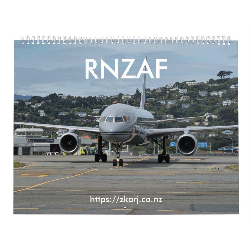 RNZAF — ZK-ARJ (large, 2-page month) Calendar