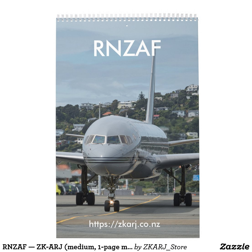 RNZAF — ZK-ARJ (medium, 1-page month) Calendar