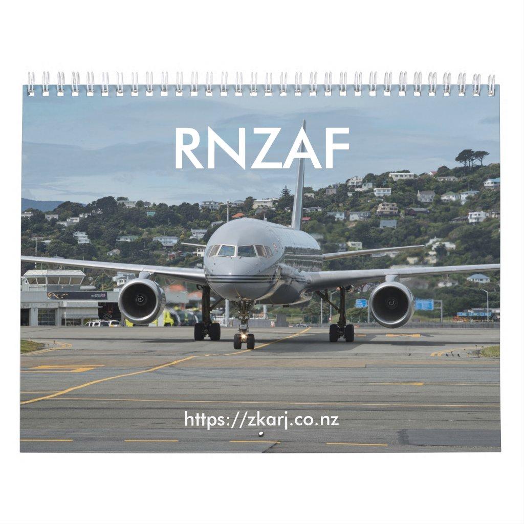 RNZAF — ZK-ARJ (medium, 2-page month) Calendar