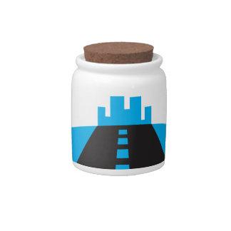 Road Candy Jar