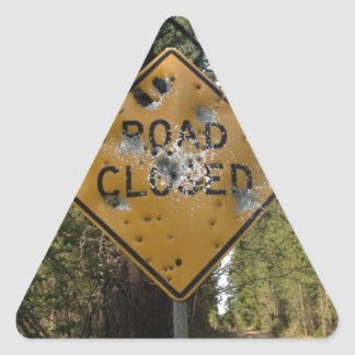Road Closed Sign Sticker