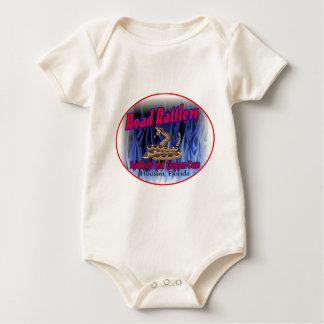 road rattlers club logo3 baby bodysuit