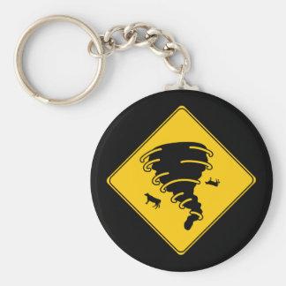 Road Sign- Tornado Key Ring
