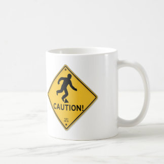 Road Signs Yellow Warning Sign Caution Tripping Coffee Mug