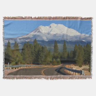 ROAD TO SHASTA THROW BLANKET