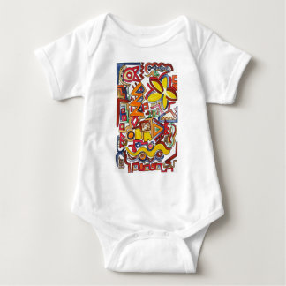 Road Trip-Hand Painted Abstract Geometric Baby Bodysuit