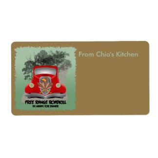 Roadkill Dinner Kitchen Avery Label Shipping Label