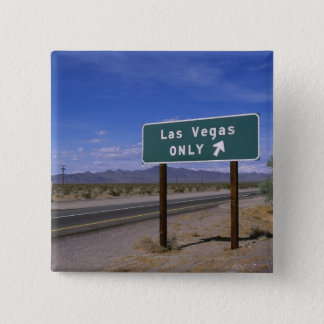 Roadside sign showing direction, California 15 Cm Square Badge
