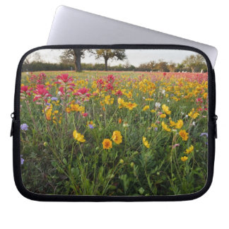 Roadside wildflowers in Texas, spring Laptop Sleeve