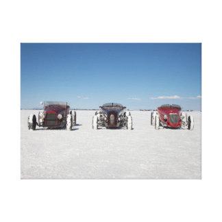 Roadsters on the Bonneville Salt Flats Canvas Print