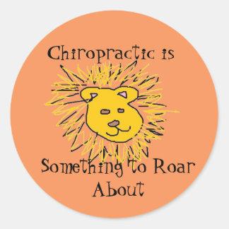 Roar about Chiropractic Round Sticker