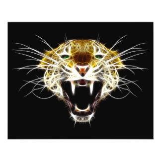 Roaring Leopard Head Cat Flyer