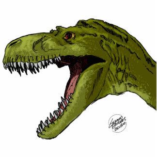 Roaring T-Rex Dinosaur by Geraldo Borges Standing Photo Sculpture