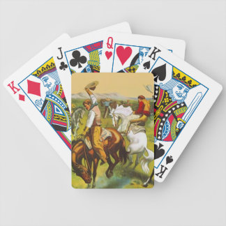 Roaring Western Cowboys Bronc Busters Poker Cards
