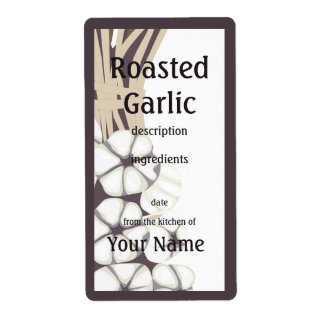 Roasted Garlic  Kitchen Label Shipping Label
